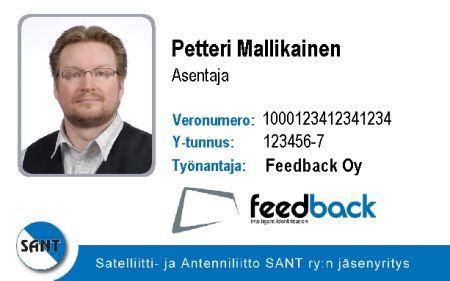 jäsenkortti logolla